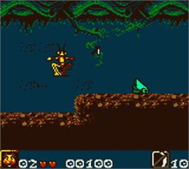 In game image of Antz on the Nintendo Game Boy Color.
