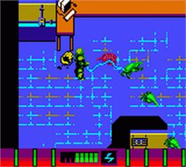 In game image of Armorines: Project S.W.A.R.M. on the Nintendo Game Boy Color.