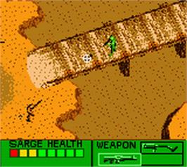 In game image of Army Men: Sarge's Heroes 2 on the Nintendo Game Boy Color.