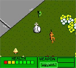 In game image of Army Men 2 on the Nintendo Game Boy Color.