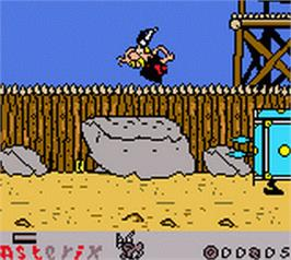 In game image of Asterix: Search for Dogmatix on the Nintendo Game Boy Color.