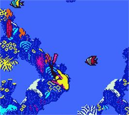 In game image of Barbie's Ocean Discovery on the Nintendo Game Boy Color.