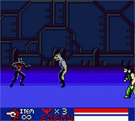 In game image of Batman Beyond: Return of the Joker on the Nintendo Game Boy Color.
