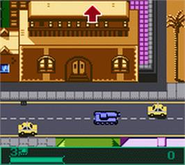 In game image of BattleTanx on the Nintendo Game Boy Color.