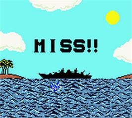 In game image of Battleship on the Nintendo Game Boy Color.