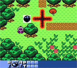 In game image of Bomberman Quest on the Nintendo Game Boy Color.
