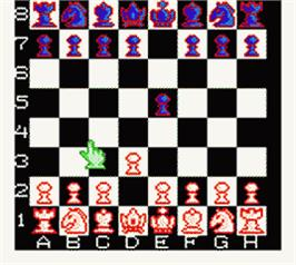 In game image of Checkmate on the Nintendo Game Boy Color.