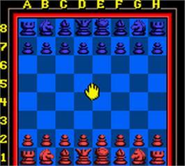 In game image of Chessmaster on the Nintendo Game Boy Color.