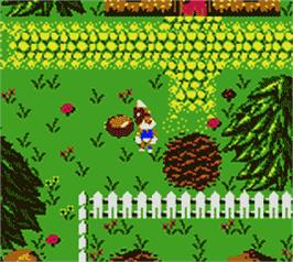 In game image of Conker's Pocket Tales on the Nintendo Game Boy Color.