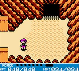 In game image of Crystalis on the Nintendo Game Boy Color.