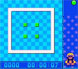In game image of Denki Blocks on the Nintendo Game Boy Color.