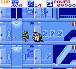 In game image of Dexter's Laboratory: Robot Rampage on the Nintendo Game Boy Color.