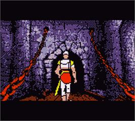 In game image of Dragon's Lair on the Nintendo Game Boy Color.