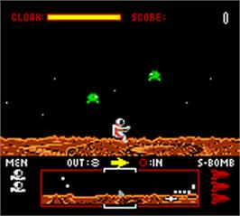 In game image of Dropzone on the Nintendo Game Boy Color.