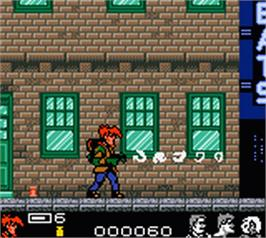 In game image of Extreme Ghostbusters on the Nintendo Game Boy Color.