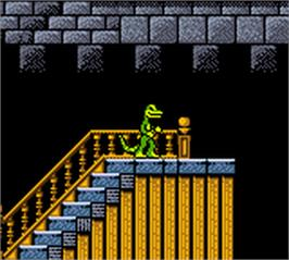 In game image of Gex: Enter the Gecko on the Nintendo Game Boy Color.