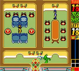In game image of Grinch on the Nintendo Game Boy Color.