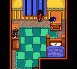 In game image of Harry Potter and the Chamber of Secrets on the Nintendo Game Boy Color.