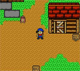 In game image of Harvest Moon 3 GBC on the Nintendo Game Boy Color.