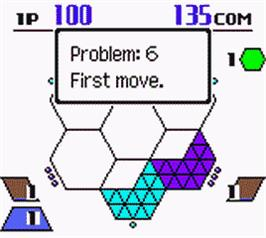 In game image of Hexcite: The Shapes of Victory on the Nintendo Game Boy Color.