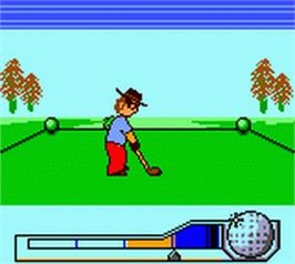 In game image of Hole in One Golf on the Nintendo Game Boy Color.