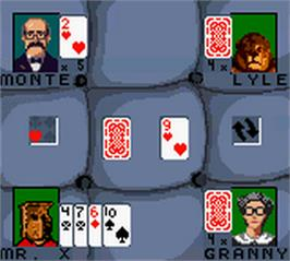 In game image of Hoyle Card Games on the Nintendo Game Boy Color.