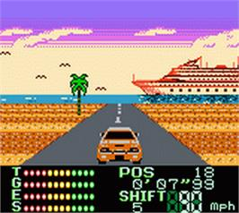 In game image of International Rally on the Nintendo Game Boy Color.