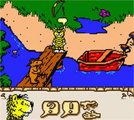 In game image of Janosch: Das grosse Panama-Spiel on the Nintendo Game Boy Color.