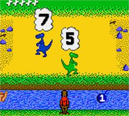 In game image of Jump Start: Dino Adventure - Feild Trip on the Nintendo Game Boy Color.
