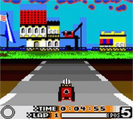 In game image of LEGO Racers on the Nintendo Game Boy Color.