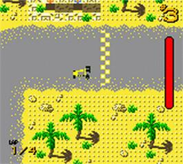In game image of LEGO Stunt Rally on the Nintendo Game Boy Color.