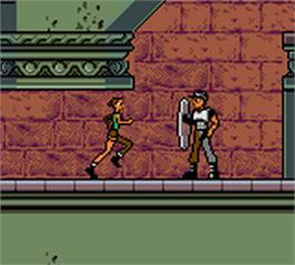 In game image of Lara Croft Tomb Raider: Curse of the Sword on the Nintendo Game Boy Color.