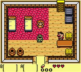 In game image of Legend of Zelda: Link's Awakening DX on the Nintendo Game Boy Color.