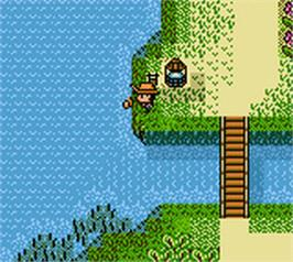 In game image of Legend of the River King 2 on the Nintendo Game Boy Color.