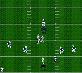 In game image of Madden NFL 2000 on the Nintendo Game Boy Color.