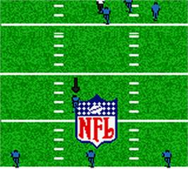 In game image of Madden NFL 2002 on the Nintendo Game Boy Color.