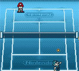 In game image of Mario Tennis on the Nintendo Game Boy Color.