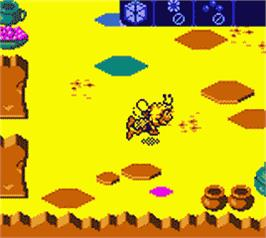 In game image of Maya the Bee - Garden Adventures on the Nintendo Game Boy Color.