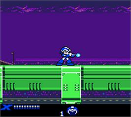 In game image of Mega Man XTreme on the Nintendo Game Boy Color.