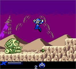 In game image of Mega Man Xtreme 2 on the Nintendo Game Boy Color.