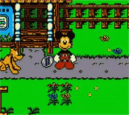 In game image of Mickey's Racing Adventure on the Nintendo Game Boy Color.