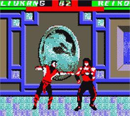 In game image of Mortal Kombat 4 on the Nintendo Game Boy Color.
