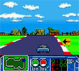 In game image of NASCAR Challenge on the Nintendo Game Boy Color.