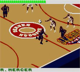 In game image of NBA 3 on 3 Featuring Kobe Bryant on the Nintendo Game Boy Color.