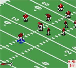 In game image of NFL Blitz on the Nintendo Game Boy Color.