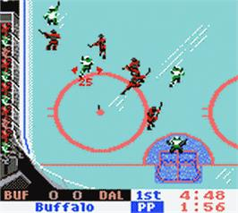 In game image of NHL 2000 on the Nintendo Game Boy Color.