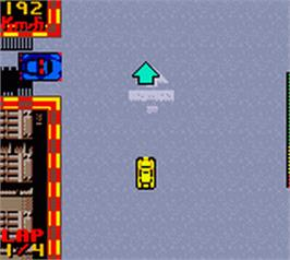 In game image of New York Race on the Nintendo Game Boy Color.