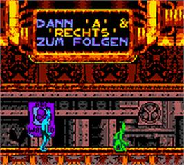 In game image of Oddworld: Adventures 2 on the Nintendo Game Boy Color.