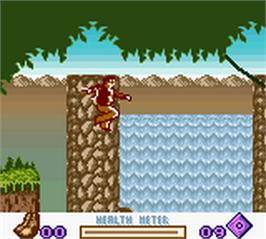 In game image of Pitfall - Beyond the Jungle on the Nintendo Game Boy Color.