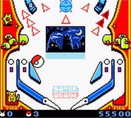 In game image of Pokemon Pinball on the Nintendo Game Boy Color.